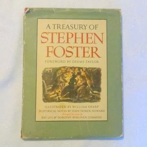 Vintage A Treasury Of Stephen Foster Songbook 1946